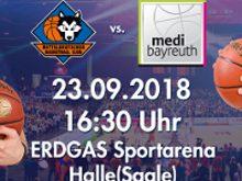 Basketball Testspiel Wölfe in der ERDGAS Arena Halle